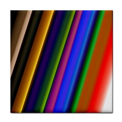 Strip Colorful Pipes Books Color Tile Coasters