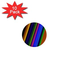 Strip Colorful Pipes Books Color 1  Mini Buttons (10 Pack)