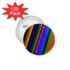 Strip Colorful Pipes Books Color 1.75  Buttons (100 pack)