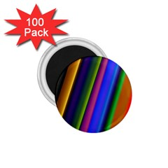 Strip Colorful Pipes Books Color 1.75  Magnets (100 pack)