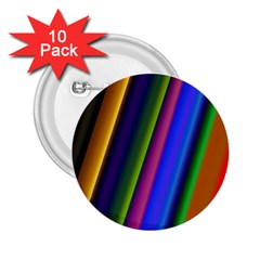 Strip Colorful Pipes Books Color 2.25  Buttons (10 pack)