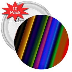 Strip Colorful Pipes Books Color 3  Buttons (10 pack)