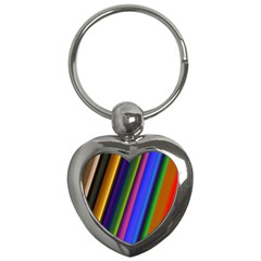Strip Colorful Pipes Books Color Key Chains (Heart)