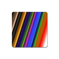 Strip Colorful Pipes Books Color Square Magnet