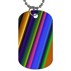 Strip Colorful Pipes Books Color Dog Tag (One Side)