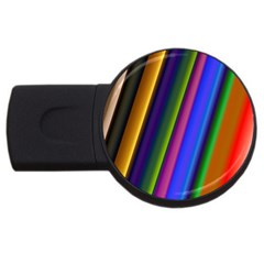 Strip Colorful Pipes Books Color USB Flash Drive Round (1 GB)