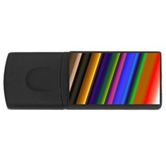 Strip Colorful Pipes Books Color USB Flash Drive Rectangular (1 GB)