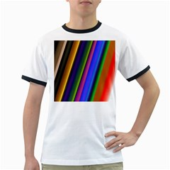 Strip Colorful Pipes Books Color Ringer T-Shirts