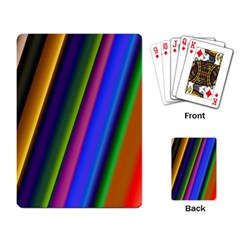 Strip Colorful Pipes Books Color Playing Card