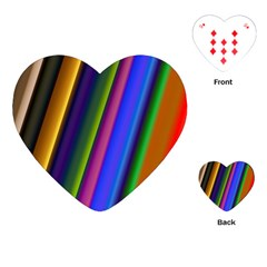 Strip Colorful Pipes Books Color Playing Cards (Heart)
