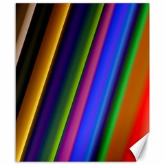 Strip Colorful Pipes Books Color Canvas 8  x 10