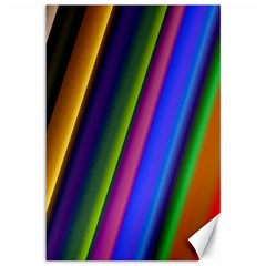 Strip Colorful Pipes Books Color Canvas 12  x 18