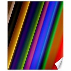 Strip Colorful Pipes Books Color Canvas 16  x 20