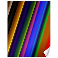 Strip Colorful Pipes Books Color Canvas 18  X 24
