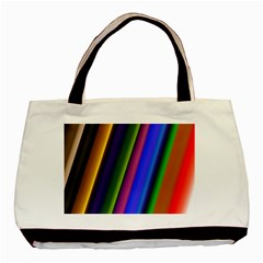 Strip Colorful Pipes Books Color Basic Tote Bag (Two Sides)