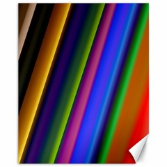 Strip Colorful Pipes Books Color Canvas 11  x 14
