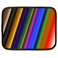Strip Colorful Pipes Books Color Netbook Case (Large)