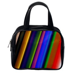 Strip Colorful Pipes Books Color Classic Handbags (One Side)