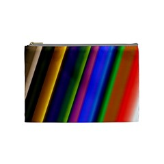 Strip Colorful Pipes Books Color Cosmetic Bag (Medium)