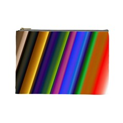 Strip Colorful Pipes Books Color Cosmetic Bag (Large)