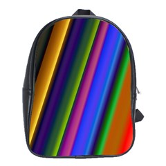 Strip Colorful Pipes Books Color School Bags(Large)