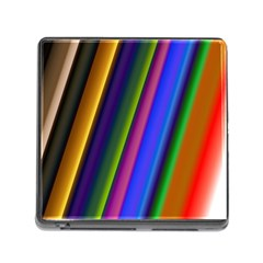 Strip Colorful Pipes Books Color Memory Card Reader (square)
