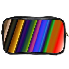Strip Colorful Pipes Books Color Toiletries Bags 2-Side