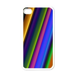 Strip Colorful Pipes Books Color Apple iPhone 4 Case (White)