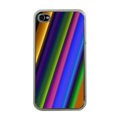 Strip Colorful Pipes Books Color Apple Iphone 4 Case (clear)