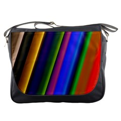 Strip Colorful Pipes Books Color Messenger Bags
