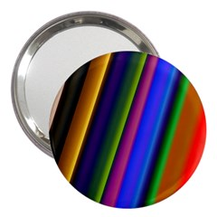 Strip Colorful Pipes Books Color 3  Handbag Mirrors