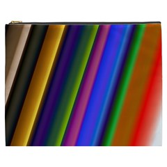 Strip Colorful Pipes Books Color Cosmetic Bag (XXXL)