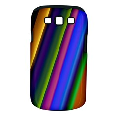 Strip Colorful Pipes Books Color Samsung Galaxy S III Classic Hardshell Case (PC+Silicone)