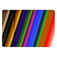 Strip Colorful Pipes Books Color Samsung Galaxy Tab 10.1  P7500 Flip Case
