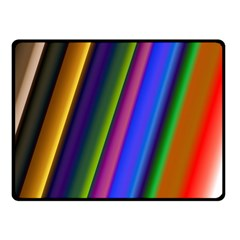 Strip Colorful Pipes Books Color Double Sided Fleece Blanket (Small)