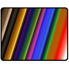 Strip Colorful Pipes Books Color Double Sided Fleece Blanket (medium)