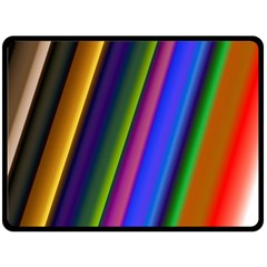 Strip Colorful Pipes Books Color Double Sided Fleece Blanket (large)