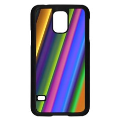 Strip Colorful Pipes Books Color Samsung Galaxy S5 Case (Black)