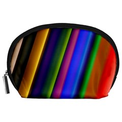 Strip Colorful Pipes Books Color Accessory Pouches (large)