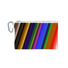 Strip Colorful Pipes Books Color Canvas Cosmetic Bag (s)