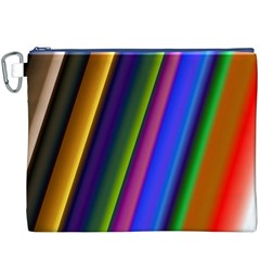 Strip Colorful Pipes Books Color Canvas Cosmetic Bag (xxxl)