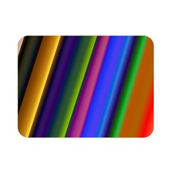 Strip Colorful Pipes Books Color Double Sided Flano Blanket (mini)