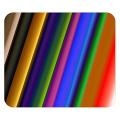 Strip Colorful Pipes Books Color Double Sided Flano Blanket (small)