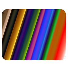 Strip Colorful Pipes Books Color Double Sided Flano Blanket (Medium)