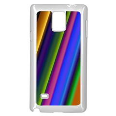 Strip Colorful Pipes Books Color Samsung Galaxy Note 4 Case (White)