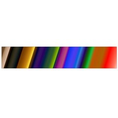 Strip Colorful Pipes Books Color Flano Scarf (large)