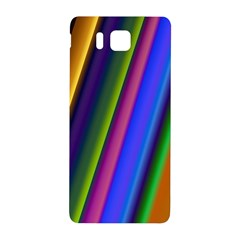 Strip Colorful Pipes Books Color Samsung Galaxy Alpha Hardshell Back Case