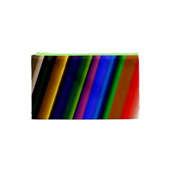 Strip Colorful Pipes Books Color Cosmetic Bag (xs)