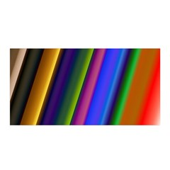 Strip Colorful Pipes Books Color Satin Wrap