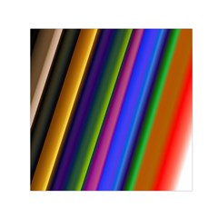 Strip Colorful Pipes Books Color Small Satin Scarf (Square)